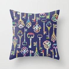 Rainbow Keys Throw Pillow