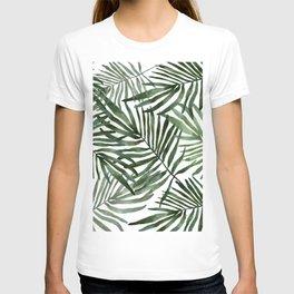 Watercolor simple leaves T-shirt