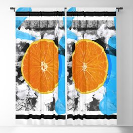Blue Orange Blackout Curtain