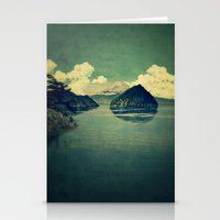 blues Stationery Cards featuring Distant Blues by Kijiermono