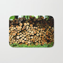 The Great Wall Of Wood Bath Mat