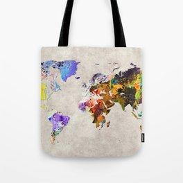World Map 54 Tote Bag