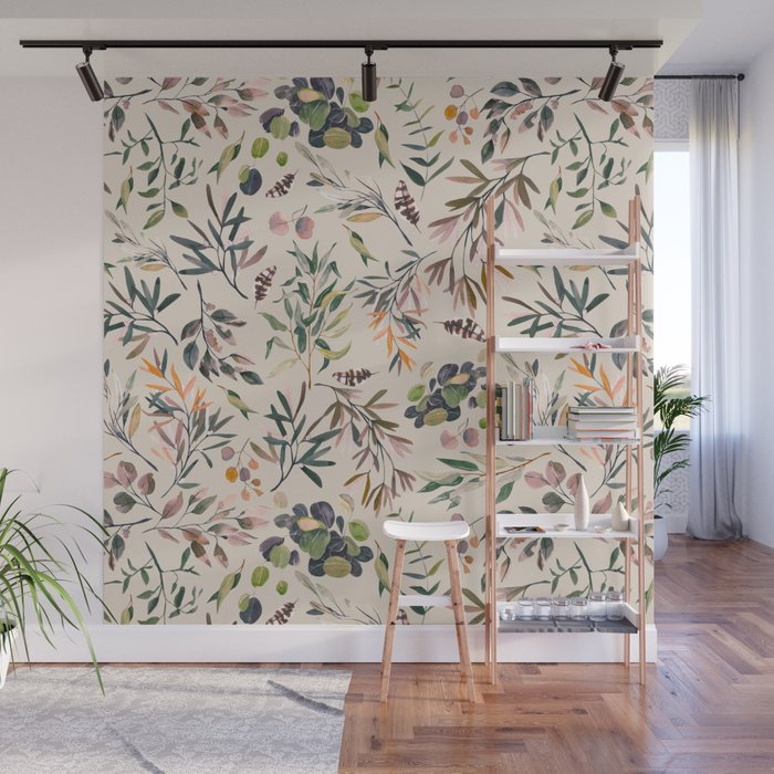 Shirley Meadow Colorful Wall Mural