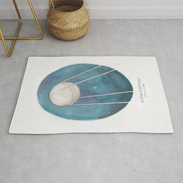 Haruki Murakami's Sputnik Sweetheart Watercolor Illustration Rug