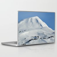 skiing Laptop & iPad Skins featuring Back-Country Skiing  - VI by Alaskan Momma Bear