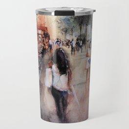 Promenade rue Saint-Martin - Paris painting Travel Mug