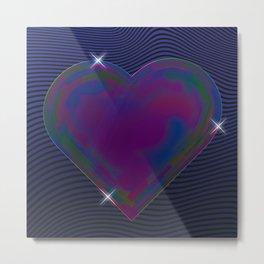 Dark heart iridescent Metal Print