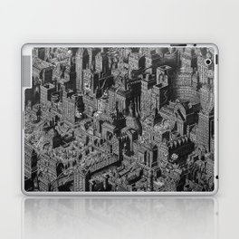 The Fantasy City. Urban Landscape Illustration. Laptop & iPad Skin