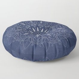 Indigo Mystique Mandala Floor Pillow