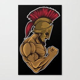Spartan At The Gym | Training Fitness Muscles Power Canvas Print