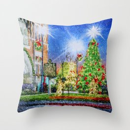 Home Town Christmas Throw Pillow