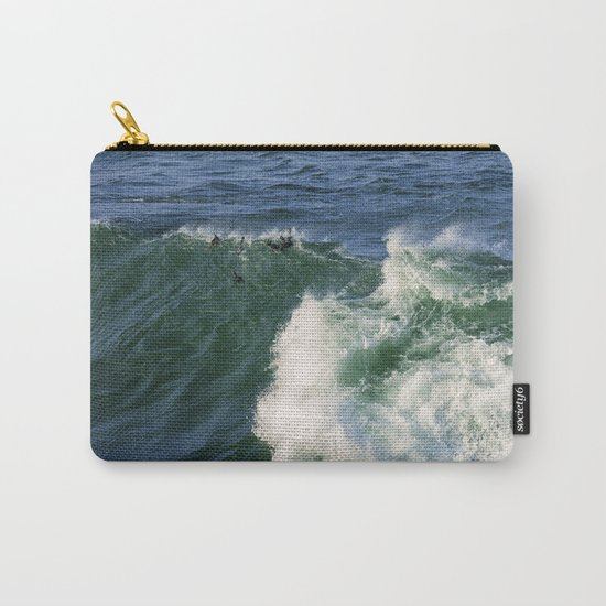 Ducks riding a wave Carry-All Pouch