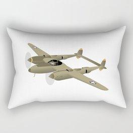 WW2 P-38 Lightning Airplane Rectangular Pillow