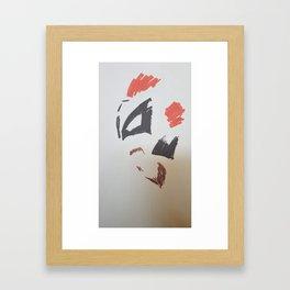 Mimalist of King Hyena Framed Art Print