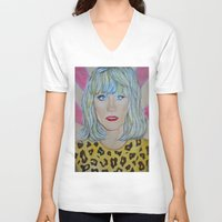 jared leto V-neck T-shirts featuring Jared Leto as RAYON by Jenn