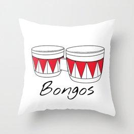 Bongos Throw Pillow