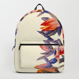 Purple And orange Vintage Succulent Watercolour Backpack