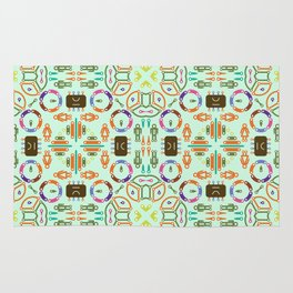 """Seamless pattern in the style of """"printed circuit board"""" Rug"""