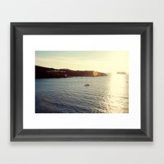 Sailing from the Sun Framed Art Print