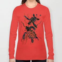 Sea Turtles, Turquoise blue Design Long Sleeve T-shirt