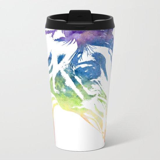 Rainbow Horse Metal Travel Mug