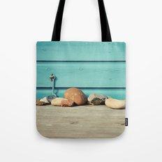 Beach Hut Stones Tote Bag
