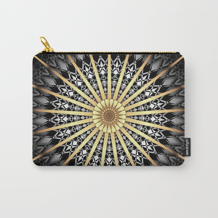 Black White Gold Mandala 2 Carry-All Pouch