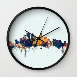 Minneapolis Minnesota Skyline Wall Clock