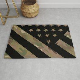 U.S. Flag: Military Camouflage Rug