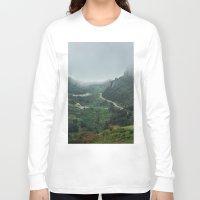 europe Long Sleeve T-shirts featuring Peaks of Europe 2 by Svetlana Korneliuk