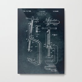 1937 - C-Clamp type hand tool Metal Print