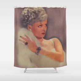 Joan Bennett, Vintage Actress Shower Curtain