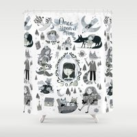 once upon a  time Shower Curtains featuring Once Upon a Time  by ilana exelby