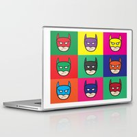 popart Laptop & iPad Skins featuring Bat-Popart-Man by EdwardJ