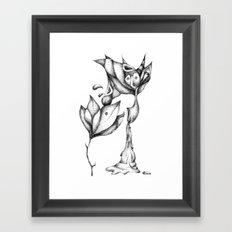 flower and bird Framed Art Print