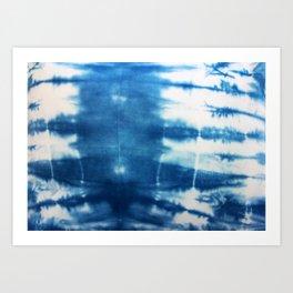 Horizontal Indigo Stripes Art Print