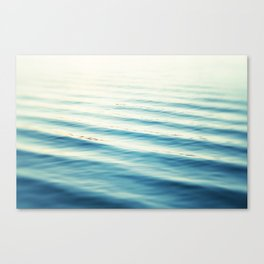 Ocean Waves Blue Photography, Aqua Water Sea Seascape Photo, Teal Beach Coastal Abstract Waves Canvas Print