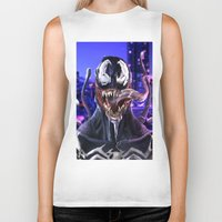venom Biker Tanks featuring VENOM by corverez