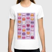 macaroons T-shirts featuring Pink and Purple macaroons by augment