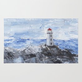 Peggy's Cove Lighthouse Rug
