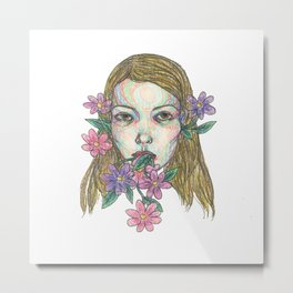 blossoming girl Metal Print