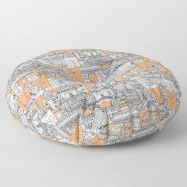 Paris toile cantaloupe Floor Pillow