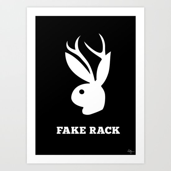 Fake Rack Art Print