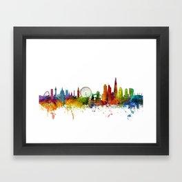 London England Skyline Cityscape Framed Art Print