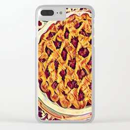 Coffee & Cherry Pie, Food For Thought Clear iPhone Case