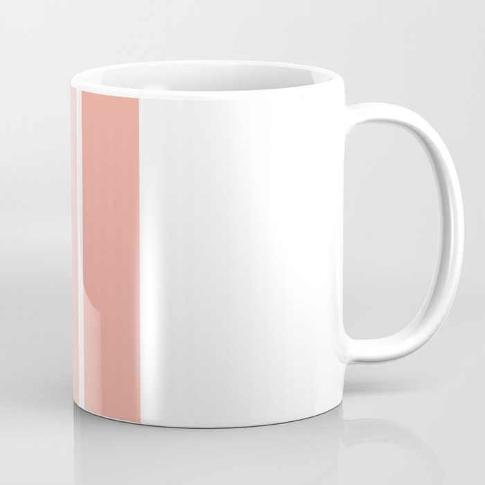 coral fade rectangles Coffee Mug