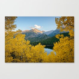 BEAR LAKE COLORADO AUTUMN PHOTO - ROCKY MOUNTAIN NATIONAL PARK FALL IMAGE- LANDSCAPE PHOTOGRAPHY Canvas Print