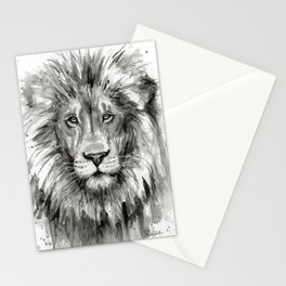 Lion Watercolor Stationery Cards