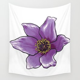 Purple Anemone Flower Wall Tapestry