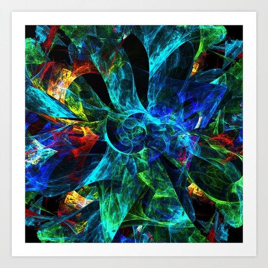 Colorful Petals Art Print